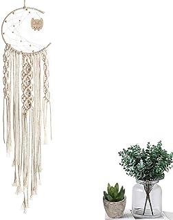 comprar comparacion Ritte Macramé Colgar Pared Tapiz, Tapiz Tejido Algodón Natural, Bohemia Style Woven Wall Hanging para Decoración de Pared ...