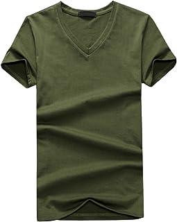 ONE LIMITATION(ワン リミテーション) 半袖 無地 Vネック Tシャツ シンプル カジュアル デザイン メンズ STH005