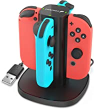 Fosmon Nintendo Switch Joy-Con Charging Dock, 4-in-1 High Speed Charger Station Stand with LED Indicators for Joy Con Nintendo Switch Joy-Con NES Controllers (Switch Wireless Version Only)