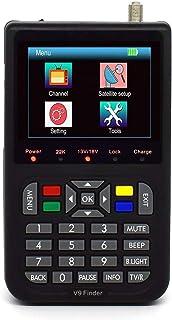 ZHITING-Satellite Finder Medidor de señal satelital, IBRAVEBOX V9 Finer HD Digital Satellite TV Finder con MPEG-2 / MPEG-...