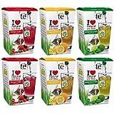 CUIDA TÉ - Ice Tea, Té Negro Frío Cool Lemon, Menta Fresca y Frutas del Bosque, 72 bolsitas de Té Frío