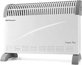 Orbegozo CV 2300 A Convector, 3 niveles de potencia, protección contra sobrecalentamiento, termostato regulable, asas de t...