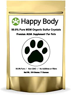 HappyBody Pure, Additive-Free MSM for Dogs and Cats - 7oz Pack
