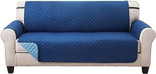 Elaine Karen Deluxe Reversible Extra Wide Sofa Furniture Protector, Blue/Light Blue