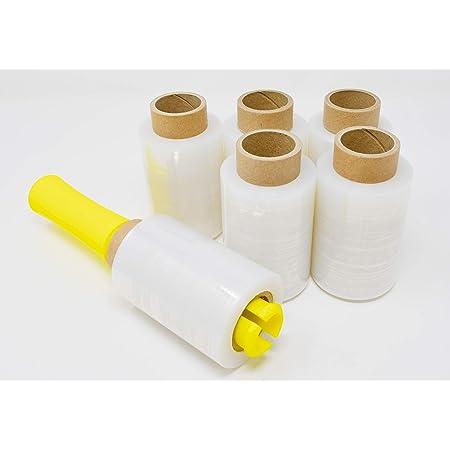 《クルっと簡単 ラクラク梱包》梱包用 ハンディラップ 150m×100mm 6本 ホルダー1個付属 (6本)