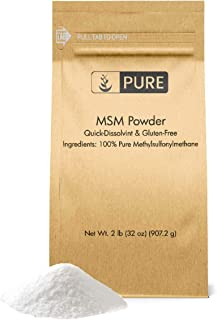 Pure Organic Ingredients Methylsulfonylmethane MSM Powder, 100% Pure and May Increase Joint & Connective Tissue Health, Respiratory & Digestive System Support