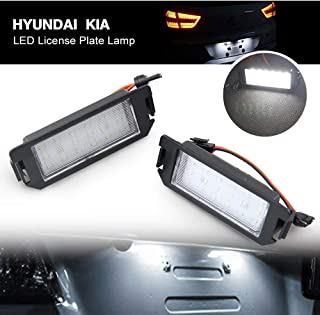 Led License Plate Lamp for Hyundai Kia - NSLUMO New Bright Tail Tag Lights Assembly For Hyundai I20 Veloster Terracan Coupe GK Kia Soul Picanto Rio Car Accessories