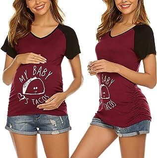Love2Mi Frauen Spitzenmutterschafts Krankenpflege Doppelschicht Farbblock