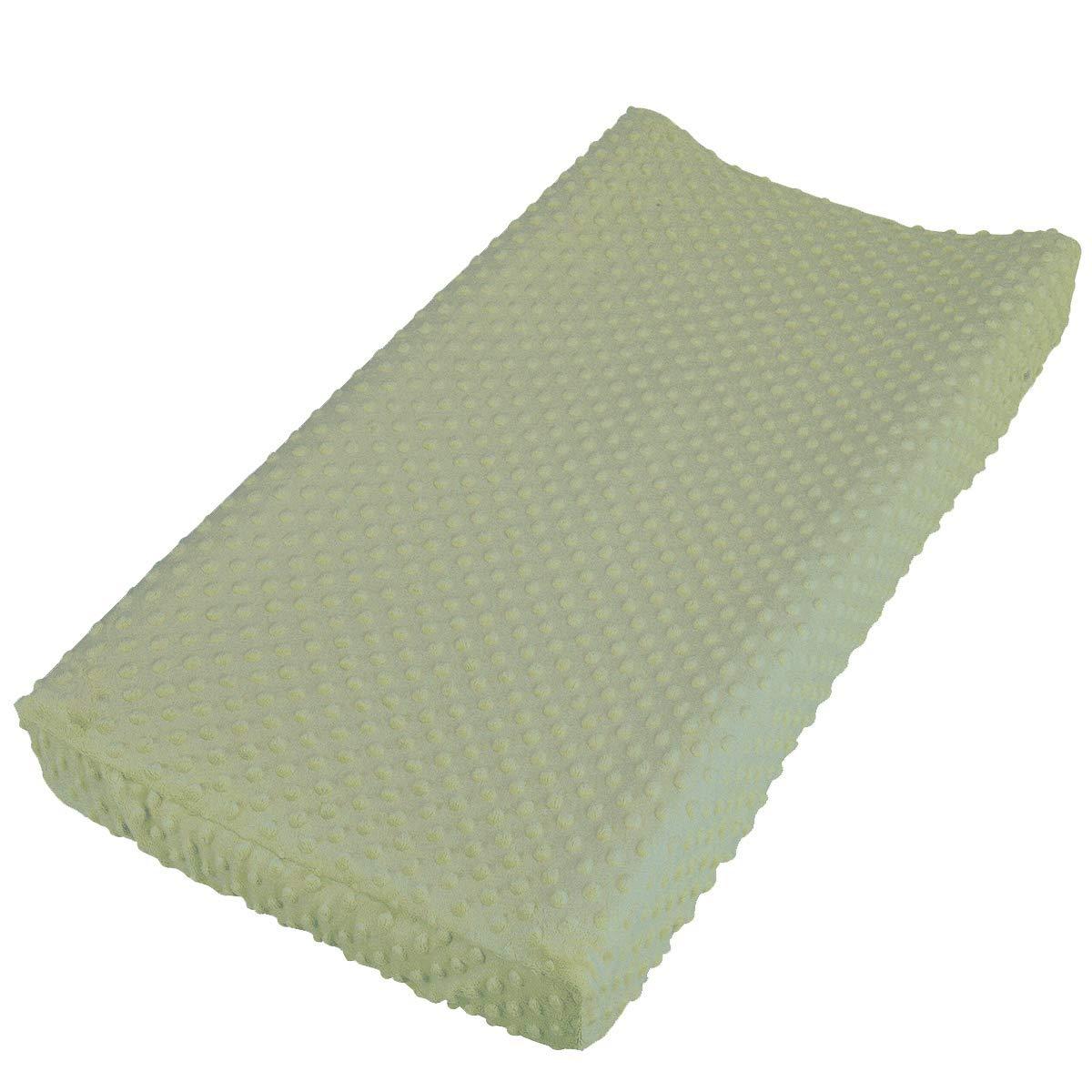 Nozaam Baby Minky Dot Changing Pad Cover Ultra Soft Changing Table Pad Cover for Diaper Changing Pad (Tidal Foam)
