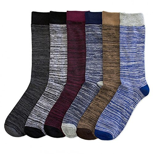 I&S Men's 12 Pack Modern Dress Crew Socks - Size 10~13 (MESSYSTM)