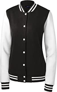 sport tek ladies fleece letterman jacket