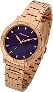 Police Hazel Analogue Rose Gold Case, Purple Dial And Rose Gold Watch For Women - PL 14986BSR-15M
