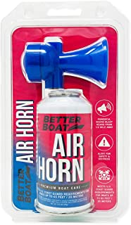 Air Horn for Boating Safety Canned Boat Accessories | Marine Grade Airhorn Can and Blow Horn