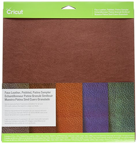 Cricut, Patina Pebbled Faux Leather, Sampler, 12X12