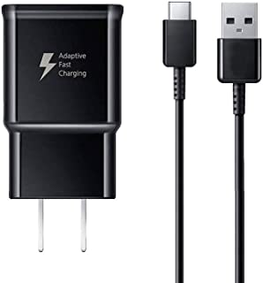 Samsung Galaxy S9 Adaptive Fast Charging Wall Charger for Samsung Galaxy S9/ S8/ S10/ Edge/Plus/ Note 9 / Note 8, Fast Wall Charger Adapter and USB Type C Cable