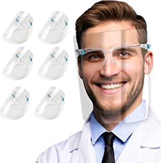salipt Face Shields Set with 12 Replaceable Anti Fog Shields and 6 Reusable Glasses for Women and Man to Protect Eyes and ...