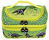 FRINGOO® Multi-Compartment Kids Lunch Bag Thermal Insulated Cooler Bag School Nursery Double Decker