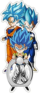 MIM Global Dragon Ball Z Super GT Phone Ring Finger Holder Grip Keyring Compatible with All Mobile Phones Tablets Devices (Fusion-HAA)