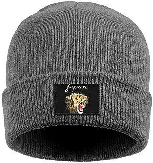 Unisex Knit Hat Japan Beautiful Tiger Roar Soft SportsBeanie Hats