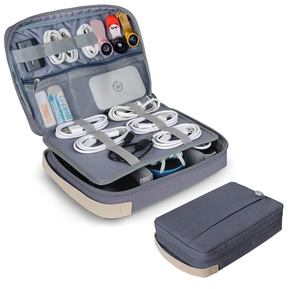Yarrashop Estuche para Eléctricas Organizador de Accesesorio Bolsa de Viaje para Cables Cargador,Gadget de Memoria USB Bolsillo para iPad Mini (Gris): Amazon.es: Electrónica