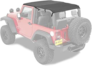 Bestop 52593-35 Bikini Black Diamond Safari Style Header Top for 2010-2018 Wrangler 2-Door