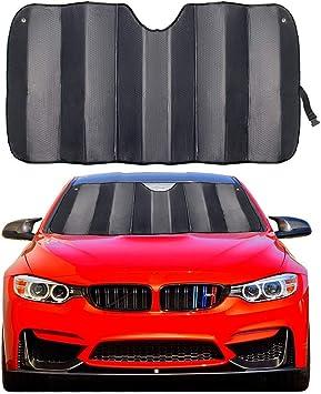 "MCBUTY Car Windshield Sunshade Thicken 5-Layer UV Reflector Auto Front Window Sun Shade Visor Shield Cover,Keep Vehicle Cool(Gary,57"" × 27.5""): image"