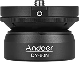 Andoer DY-60N Tripod Leveling Base Leveler Adjusting Plate Aluminum Alloy with Bubble Level Bag for Canon Nikon Sony DSLR Camera