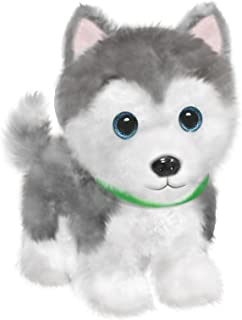 "First & Main 7"" Grey & White Wuffles Husky Puppy Dog Basic Plush Toys"
