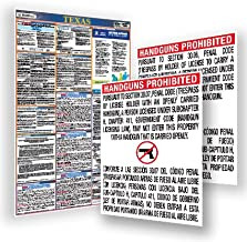 2019 Texas Labor Law Poster & Open Carry Signs Bundle