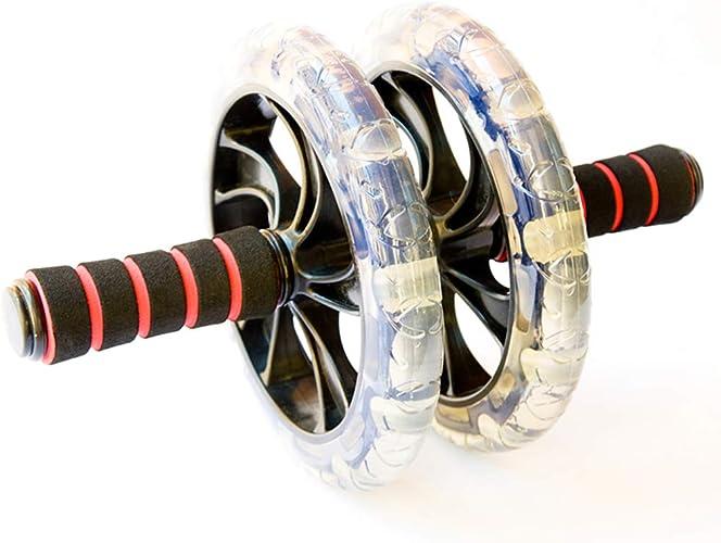 DUANTUIZHU Abdominal Wheel Roller No Noise Muscle Training à Deux Roues Workout Abdominal AB Roller Fitness Exercice équipement