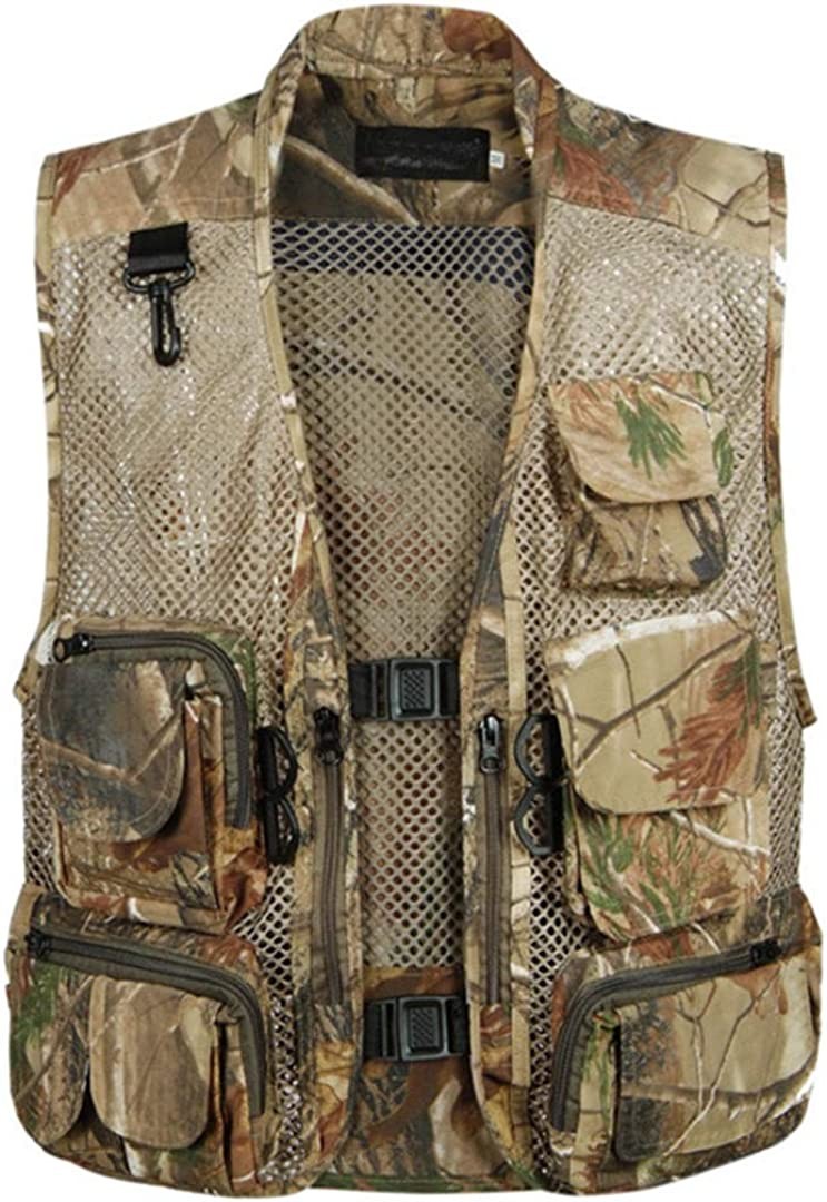 Men's Camouflage Vest Thin Section Breathable Work Loose Sleeveless Jacket