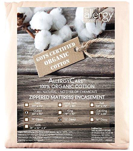 The Allergy Store Zippered Cotton Matratzenauflage, Natur, 12'/Queen