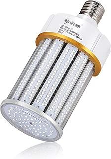 80W LED Corn Light Bulb (250-400 Watts Metal Halide/HPS Replacement), Large E39 Mogul Screw Base, UL-Listed & DLC Qualified, LED Street Lighting, LED High Bay Lighting (5700K Daylight White)
