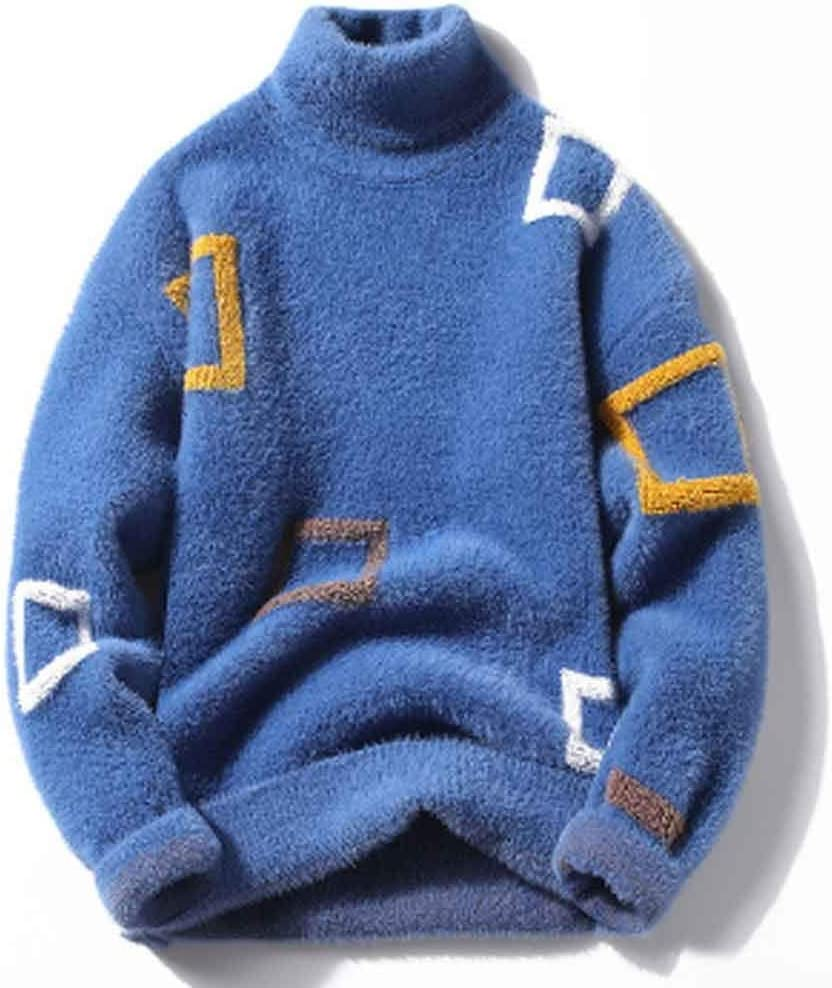 ZYING Hick Cashmere Turtleneck Sweater Men Tops Winter Male Pullovers Sweaters Comfortable Mens Christmas Jumper Soft Warm Pull Homme (Color : C, Size : M Code)