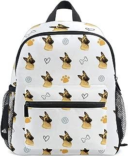 Cute Toddler Belgian Malinois Dog Animals Backpack Kids School Bags