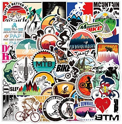 MTB Stickers 50pcs Outdoors Mountain Bike Sticker Decals Waterproof Vinyl Stickers Pack for product image