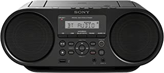 Sony ZS-RS60BT CD和USB蓝牙扬声器 / 收音机录音机(NFC,Mega Bass,FM 收音机),黑色