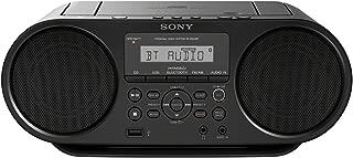 Sony 索尼 无线蓝牙音箱音响 可接录音话筒 CD/USB/SD/收音机(NFC,Mega Bass,FM 收音机)) ZS-RS60BT无线蓝牙音箱 黑色