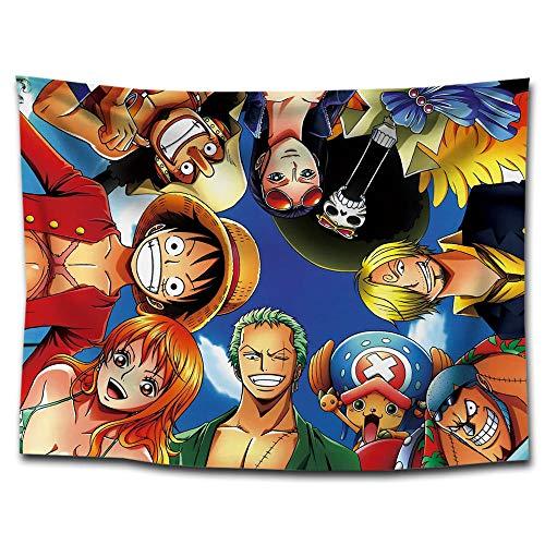 MSHAQT Tapices One Piece Luffy Anime Película Colcha para Colgar En La Pared Manta De Picnic Toallas De Playa Sala De Estar Regalo De Decoración 150Cm * 250Cm