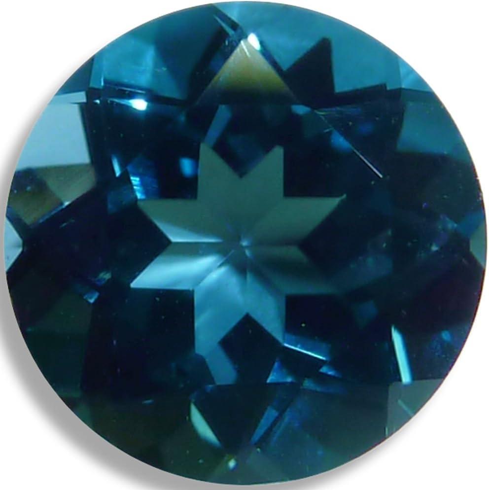 OptimaGem London Blue Topaz Round 6mm Loose Gemstones 3mm-12mm Max 47% OFF Wholesale