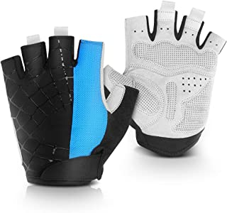 Yosoo Health Gear Cycling Gloves, Bike Mountain Gloves Breathable Half Finger Bicycle Gloves with Anti-Slip and Shock-Absorbing Pad for Men and Women Riding, Biking, Weight Lifting, Climbing, Workout