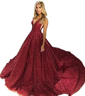 Deep V Neck Prom Dresses 2019 V Back Evening Party Gown BD558