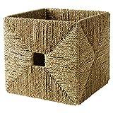 Ikea KNIPSA Basket (Seagrass) 201.105.40, 12.5' Width x 13' Depth x 12.5' Height (32 cm Width x 33 cm Depth x 32 cm Height)