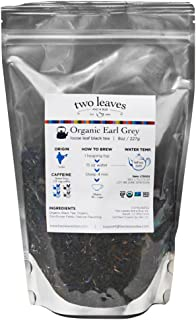 Two Leaves and a Bud Organic Earl Grey Black Tea, Loose, 8 Ounce (Pack of 2)