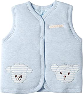 YuShang Baby Colored Cotton Warm Vests Unisex Infant to Toddler Padded Waistcoat