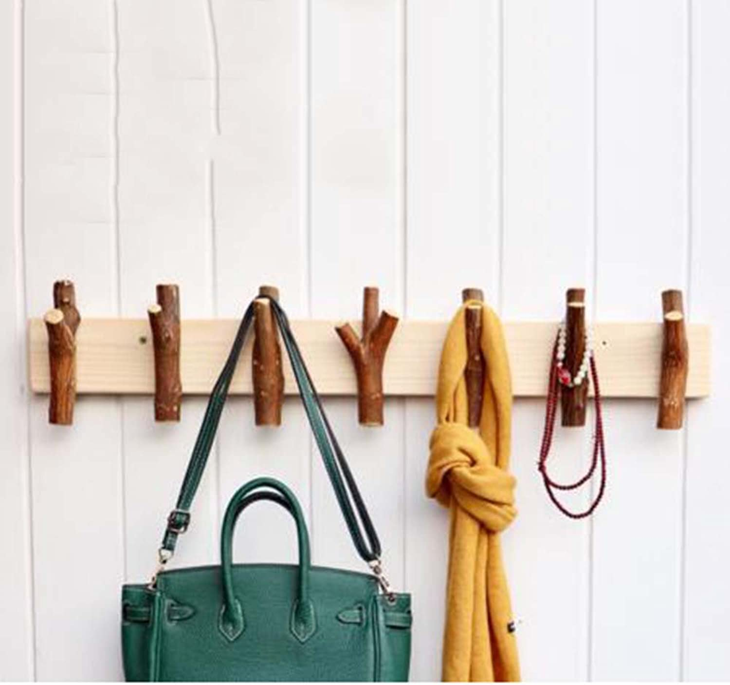 Xiaolin Wall Decoration Coat Racks and Umbrella Stands Raw Wood Tree Hanger Personality Retro Nordic Entrance Wall Hanging Hook