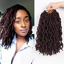 Bo Locs Crochet Hair 6 Packs 12inch Nu Locs Crochet Hair Extensions Kanekalon Dreadlock Crochet Twist Hair Curly Faux Locs Crochet Braids (20 Roots/Pack) #99J