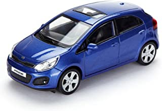 [Hyundai Toys Collation] Mini Car 1:38 Scale Unique Miniature Diecast Model 1-pc Set For 2012 2013 2014 Hyundai Rio : All New Pride (Blue)
