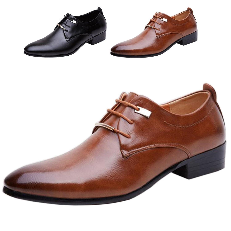 [ALSYIQI] リーガル 靴 ビジネスシューズ メンズ 革靴 スニーカー シューズ 屈曲性 通学 通勤 レースアップ カジュアルシューズ コンフォート 衝撃吸収 通気 防臭 柔らかい A-8871 (26.0 CM / EU42, 8871 Brown)