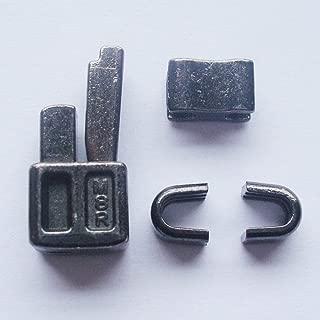 2 sets gun metal #8 metal zipper head box zipper sliders retainer insertion pin easy for zipper repair,Zipper Repair Kit (#8)
